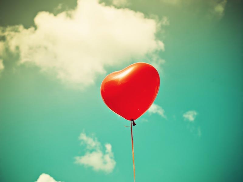Corazón Globo - Imagen Corazón globo rojo